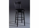 Bar Stool - Cottage Swivel Bar Stool in Rubbed Black - 4366-830