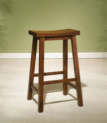 "Bar Stool - ""Honey Brown"" - Powell Furniture - 455-431"