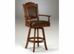 Bar Stool - Nassau Swivel Leather Game Bar Stool - Hillsdale Furniture - 6060-830
