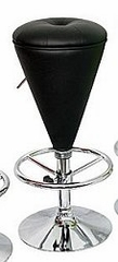 Bar Stool - Sugar Cone Bar Stool in Black / Black - LumiSource - BS-CONE-BK-BK