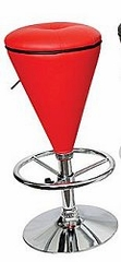 Bar Stool - Sugar Cone Bar Stool in Red / Black - LumiSource - BS-CONE-R-BK