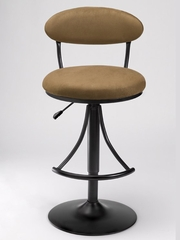Bar Stool - Venus Swivel Bar Stool with Bear Suede - Hillsdale Furniture - 4210-831