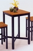 Bar Table With Veneer Top in Black - 5983-35