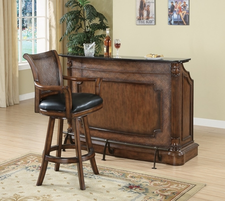 Bar Unit and Stool Set in Brown - Coaster - 100173-4-DSET
