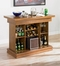 Bar Unit with Game Table in Oak - Coaster