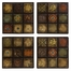 Barberry Handpainted Ceramic Wall Tiles (Set of 4) - IMAX - 5485-4