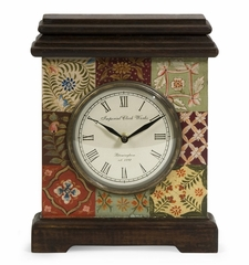 Barberry Handpainted Desk Clock - IMAX - 5515