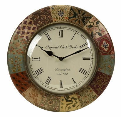 Barberry Handpainted Wall Clock - IMAX - 5514