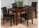 Baroque Brown 5PC Rectangle Table and Chair Set - 697-64