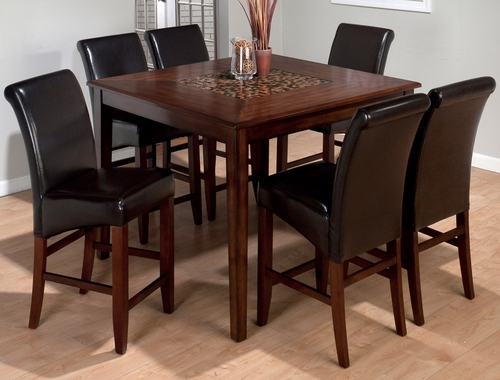 Baroque Brown 7-Piece Counter Height Set - 697-50