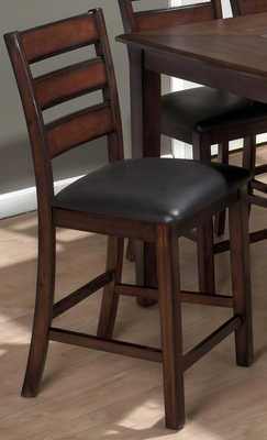Baroque Brown Pub Stool with Faux Leather Seat - Set of 2 - 697-BS923KD