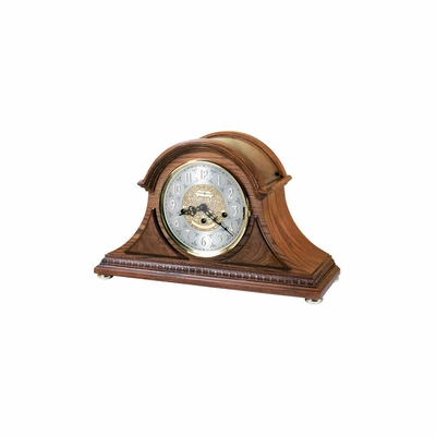 Barrett II Tambour Key Wound Mantel Clock - Howard Miller