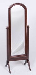 Barrington Beveled Mahogany Cheval Mirror - Meridian Group - 6112