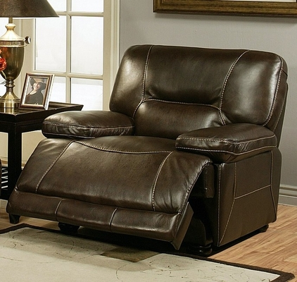 Barrington Premium Italian Leather Recliner - Abbyson Living - CH-8862-BRN-1