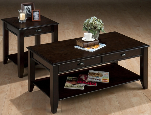 Bartley Oak 2PC Cocktail and End Table Set - 459-1