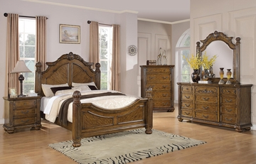 Bartole Traditional 5PC Queen Bedroom Set - 202221Q