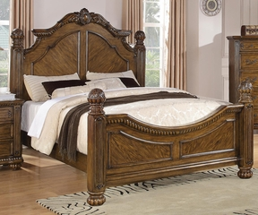Bartole Traditional Bed in Oak - 202221Q