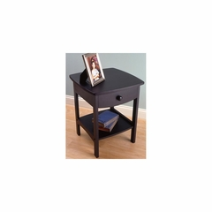 Basics Black Night Stand - Winsome Trading - 20218