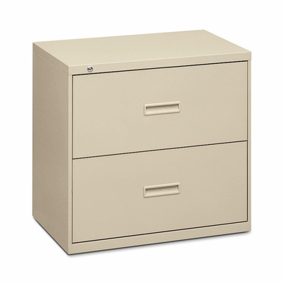 Basyx 2-Drawer Lateral File Cabinet W/Lock - Putty - BSX432LL