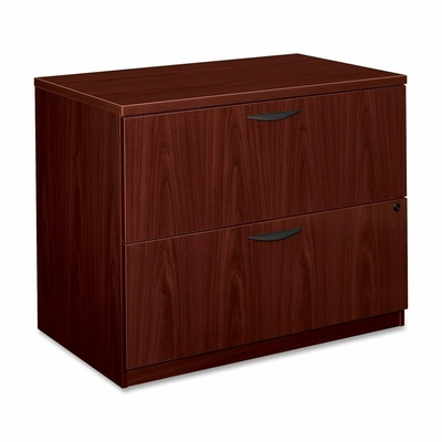 Basyx 2-Drawer Lateral Filing Cabinet in Mahognay - BSXBL2171NN