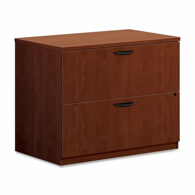 Basyx 2-Drawer Lateral Filing Cabinet in Medium Cherry - BSXBL2171A1A1