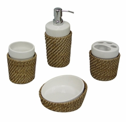 Bathroom Accessory Set 4pc - Hana - 70100