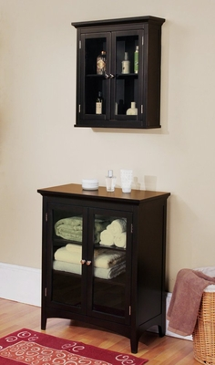 Bathroom Furniture Set 3 in Dark Espresso - Madison Avenue - MAVE-SET-3
