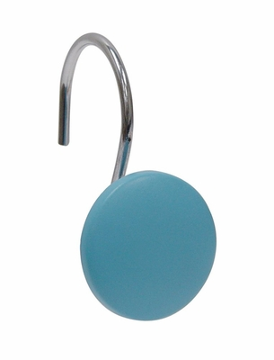 Bathroom Shower Curtain Hook with Blue Circle Design - 12446