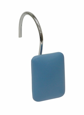 Bathroom Shower Curtain Hook with Blue Rectangle Shape - 12453