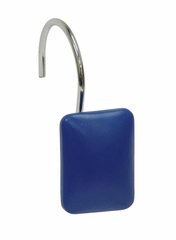 Bathroom Shower Curtain Hook with Dark Blue Rectangle Shape - 12460