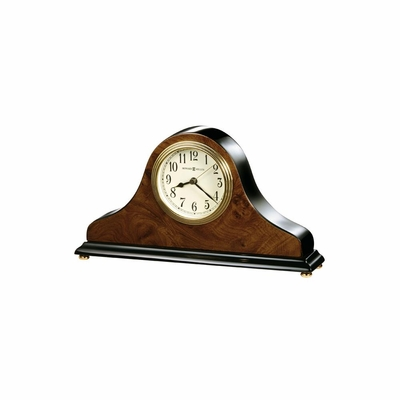 Baxter Quartz Table Clock in Walnut - Howard Miller