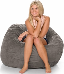Bean Bag Chair 3Ft in Suede Charcoal - Jaxx Bean Bags - 10836112