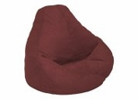 Bean Bag Chair Adult Extra Large in Berry Soft Velvet LUXE - 30-1051-1104