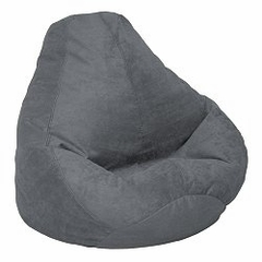 Bean Bag Chair Adult Extra Large in Charcoal Soft Suede LUXE - 30-1051-1003