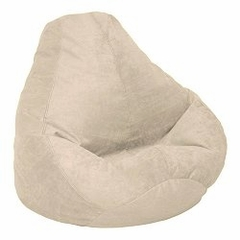 Bean Bag Chair Adult Extra Large in Fawn Soft Suede LUXE - 30-1051-1001