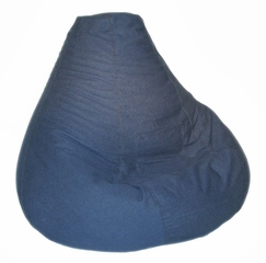 Bean Bag Chair Adult Extra Large in Indigo Denim - Print and Plush - 30-1051-599