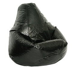 Bean Bag Chair Adult Extra Large in Jet Black - Wetlook - 30-1051-119