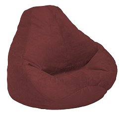 Bean Bag Chair Adult in Berry Soft Velvet LUXE - 30-1041-1104