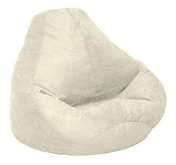 Bean Bag Chair Adult in Buckwheat Soft Velvet LUXE - 30-1041-1102