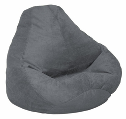 Bean Bag Chair Adult in Charcoal Soft Suede LUXE - 30-1041-1003