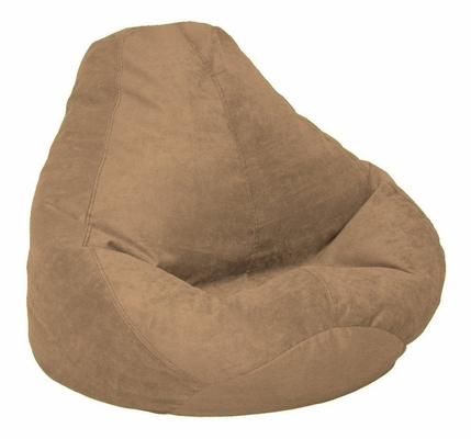 Bean Bag Chair Adult in Coffee Soft Velvet LUXE - 30-1041-1101