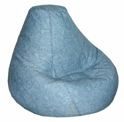 Bean Bag Chair Adult in Distressed Denim - Print and Plush - 30-1041-636