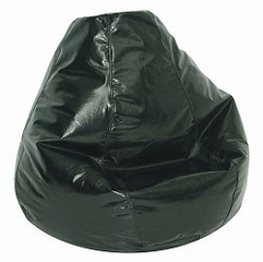 Bean Bag Chair Adult in Jet Black - Wetlook - 30-1041-119