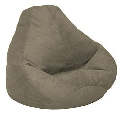 Bean Bag Chair Adult in Olive Soft Suede LUXE - 30-1041-166