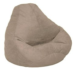 Bean Bag Chair Adult in Peat Soft Suede LUXE - 30-1041-167