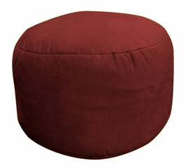 Bean Bag Chair Bigfoot Footstool in Berry Soft Velvet LUXE - 30-9023-1104