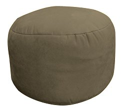Bean Bag Chair Bigfoot Footstool in Olive Soft Suede LUXE - 30-9023-166