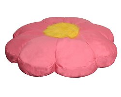 Bean Bag Chair Flower Shaped in Pink/Yellow - Child Plush - 30-8032-616