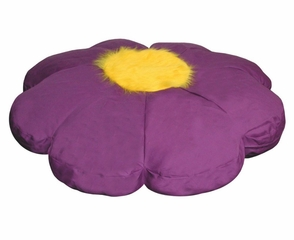 Bean Bag Chair Flower Shaped in Purple/Yellow - Child Plush - 30-8032-618