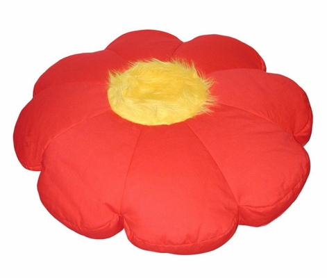 Bean Bag Chair Flower Shaped in Red/Yellow - Child Plush - 30-8032-608